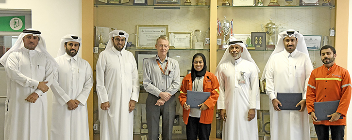 Qatalum Management acknowledged three staff on academic studies who have completed their bachelor degree in 2019.