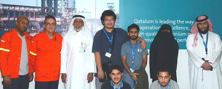 Texas A&M University in Qatar once again sent its students to Qatar Aluminum for an industrial visit on 11th December, 2018. The group visiting this time consisted of 6 male students from Mechanical Engineering program.